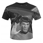 STAR TREK T-Shirt Jersey SPOCK Classic Klingon Greeting ORIGINAL OFFICIAL New