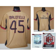 MILAN T-Shirt GOLD 45 MARIO BALOTELLI Official ORIGINAL Jersey NO LIVERPOOL
