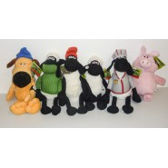 Plush 35cm SHAUN THE SHEEP Dressed Movie 2015 ORIGINALE Ufficiale