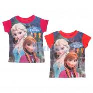 FROZEN Maglietta ANNA e ELSA Top New T-SHIRT Ufficiale ORIGINALE Disney NUOVA