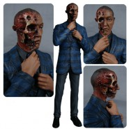 BREAKING BAD Figura GUS FRING Burned Face 15cm MEZCO Faccia Bruciata Morto