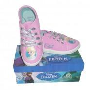 FROZEN Scarpe GINNASTICA Rosa ELSA Ufficiali DISNEY Sneakers TELA Shoes NEW