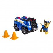 PAW PATROL Playset CHASE with Vehicle CRUISER First Version With CONES Rare Truck SPIN MASTER BASIC