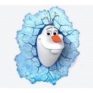 FROZEN Lampada LED Luce Muro OLAF 3D LIGHT Philips ORIGINALE Disney