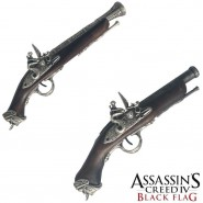 ASSASSIN'S CREED IV 4 Official Replica EDWARD KENWAY's GUN in 2 VERSIONS with display stand