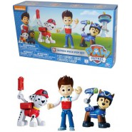 "PAW PATROL Set 3 FIGURE Action RYDER + MARSHALL + ""SPY"" CHASE Originali SPIN MASTER 6024760"