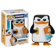 PINGUINI MADAGASCAR Figura Collezione SKIPPER Pinguino 10cm Funko POP Movies 161