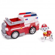 PAW PATROL Model RESCUE EMT Ambulance TRUCK MARSHALL with Figure SPIN MASTER