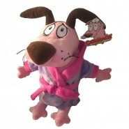 COURAGE the COWARDLY DOG with BATHROBE Plush 30cm ORIGINAL