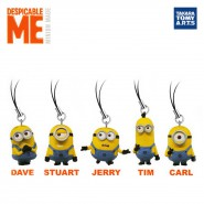 SET 5 Figures MINIONS Danglers 4cm TOMY Despicable Me