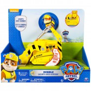 PAW PATROL Playset Vehicle RUBBLE Bulldozer DELUXE VERSION Lights Sounds TRUCK Spin Master 6027167