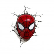 MARVEL Lamp LED Wall Light SPIDERMAN Mask 3D Philips OFFICIAL New