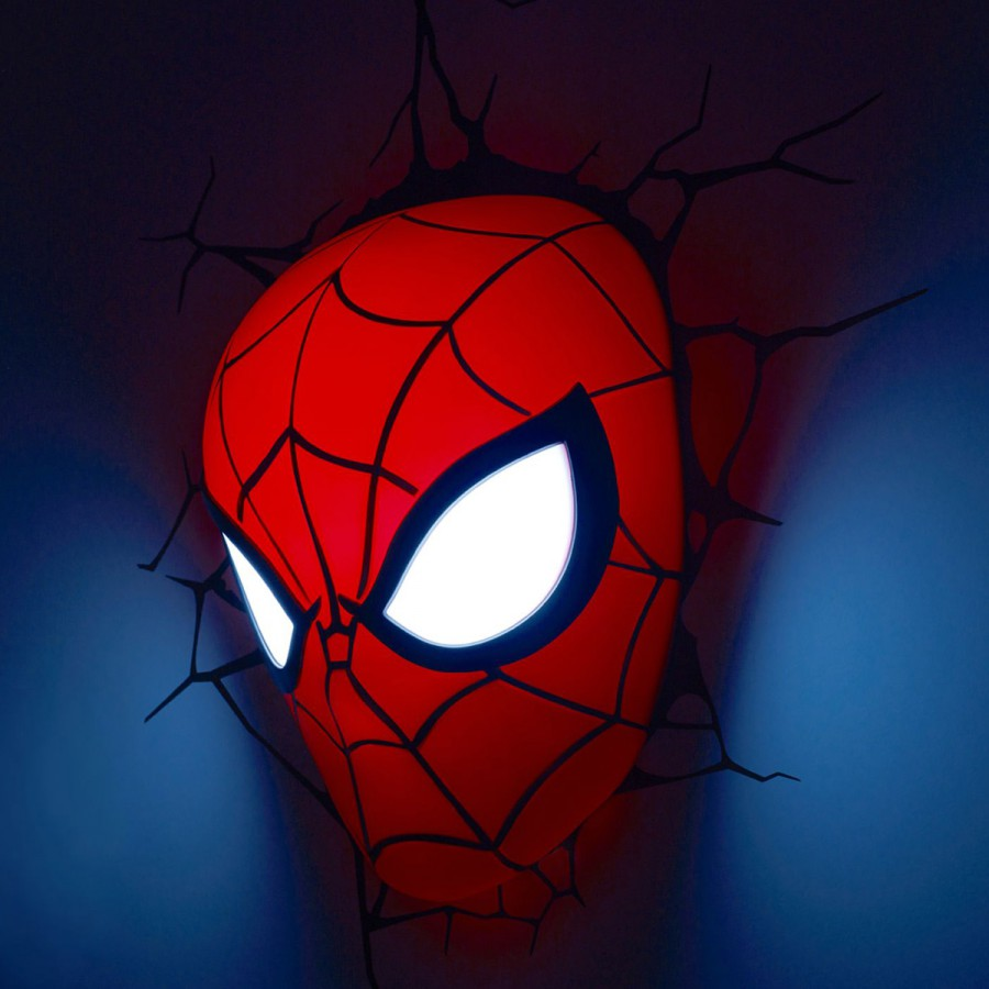 Marvel lamp led wall light spiderman mask 3d philips official new marvel lamp led wall light spiderman mask 3d philips official new aloadofball Images