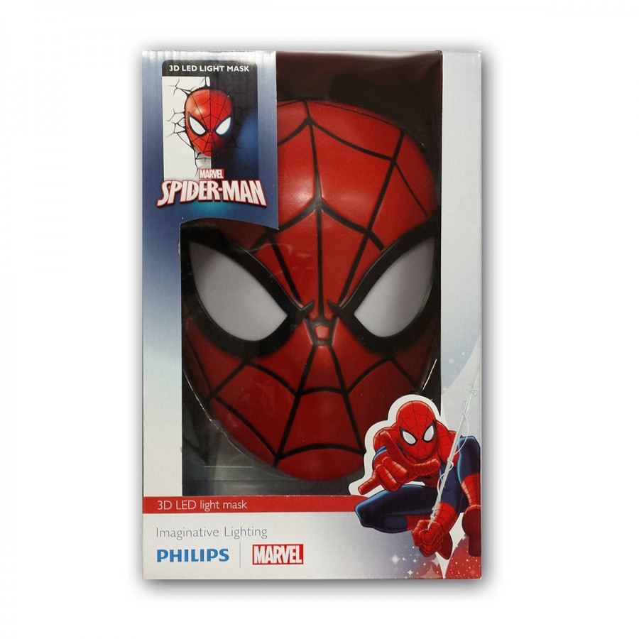 ... MARVEL Lamp LED Wall Light SPIDERMAN Mask 3D Philips OFFICIAL New