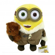 Plush 28cm Minion BOB with TIM Teddy Bear MINIONS MOVIE 2015 Original