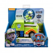 PAW PATROL Playset Veicolo ROCKY Camion SPAZZATURA Basic SPIN MASTER