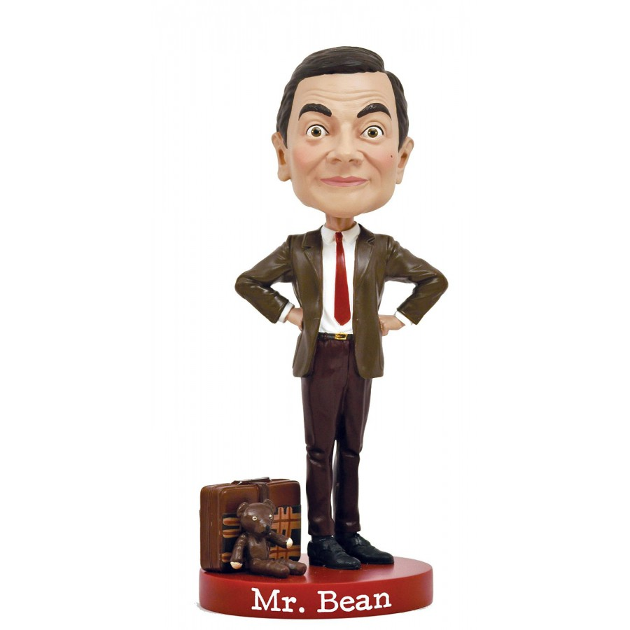 mr bean figure statue 20cm resin head knocker bobble head royal