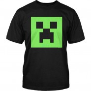 MINECRAFT BLACK T-Shirt Creeper Cactus OFFICIAL ORIGINAL