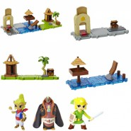 THE LEGEND OF ZELDA Wind Waker PLAYSET and Figure NINTENDO MICRO LAND Jakks Pacific