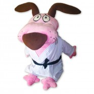 PLUSH Courage The Cowardly Dog KARATE  XXXL 75cm Gigantic ORIGINAL Official
