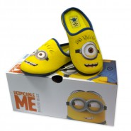 Pair of SLIPPERS MINION Minions 2015 Despicable Me BOB STUART KEVIN ORIGINAL 100% Official