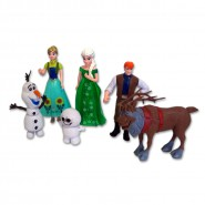 "SET 6 FIGURES Characters FROZEN ""FEVER"" Elsa Anna Olaf Sven DISNEY Cake Toppers"