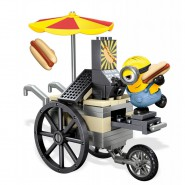 MINIONS Flying Hot Dogs Carts Playset Stuart MINION MEGA BLOKS