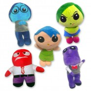 INSIDE OUT Complete SET 5 PLUSHIES 20cm With SUCTION CUP  Feelings Joy Sadness Anger Fear Disgust