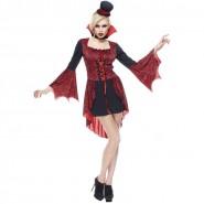 COSTUME Halloween SEXY VAMPIRA Adulto Donna Taglia Unica RUBIE'S Rubies Carnevale
