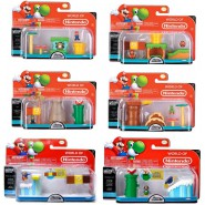 MARIO BROS Playset and Figures NINTENDO MICRO LAND Original JAKKS PACIFIC