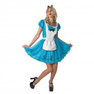 COSTUME Halloween ALICE IN WONDERLAND Disney Adult Woman RUBIE'S SEXY Carnival