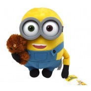 Peluche 30cm BOB MINION con ORSETTO TIM Originale MINIONS MOVIE 2015 Film
