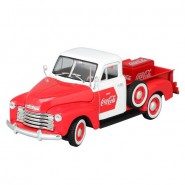 Model Metal 1:32 COCA COLA Chevrolet CHEVY PICKUP 1953 with Fridge DIECAST