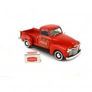 Modellino Metallo 1:43 COCA COLA Chevrolet CHEVY PICKUP 1953 con Frigorifero DIECAST