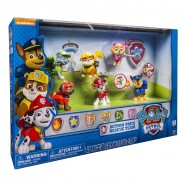 PAW PATROL Box SET 6 Figure ACTION PUP Personaggi ZAINETTO e ACCESSORI Spin Master 6024030