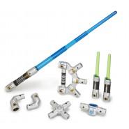 STAR WARS Spada Laser MAESTRO JEDI Elettronica COMPONIBILE Hasbro DISNEY Lucasfilm