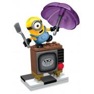 MINIONS Kit Playset MINION STUART e TV ASSURDA Set Costruzioni MEGA BLOKS
