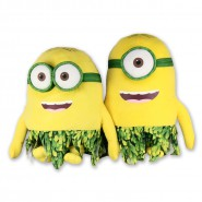 MINIONS MOVIE 2015 Pair 2 Plush 30cm STUART BOB Beach HAWAII Nude NATUREL Minion Original