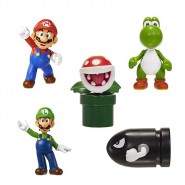 SUPER MARIO Box Set 5 MINI FIGURES Original Official JAKKS PACIFIC