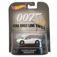007 YOU ONLY LIVE TWICE Model TOYOTA 2000GT ROADSTER 1:64 Hot Wheels MATTEL