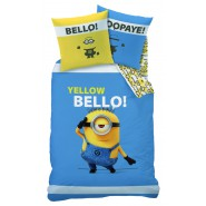 Bed Set MINIONS YELLOW BELLO 140x200cm DUVET COVER Stuart Minion 100% COTTON