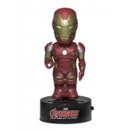 AVENGERS Figura IRON MAN 16cm BODY KNOCKER Bobble NECA Energia Solare MARVEL