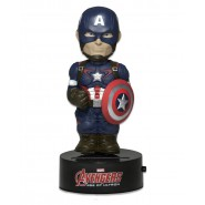AVENGERS Figure CAPTAIN AMERICA 16cm BODY KNOCKER Bobble NECA Solar Power MARVEL