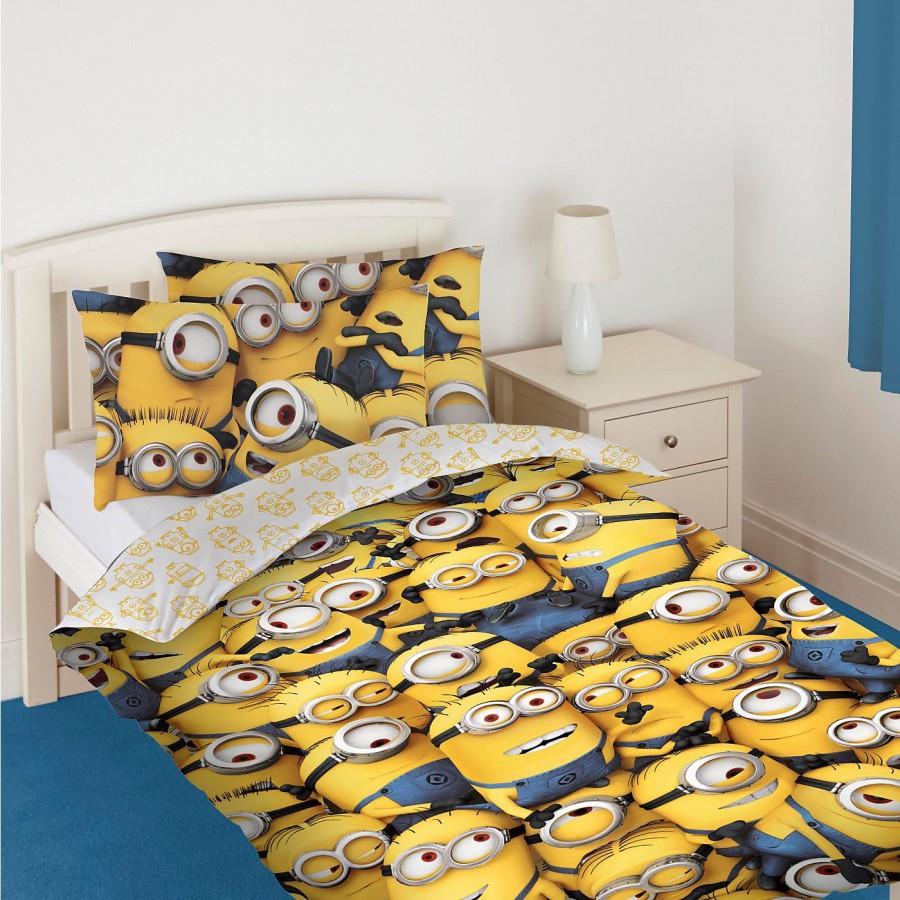 Copripiumino Minions.Bed Set Sea Of Minions Despicable Me 135x200cm Duvet Cover Minion