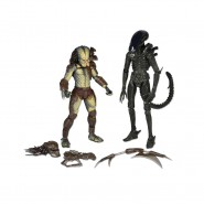 ALIEN VS PREDATOR Set Figure RENEGADE e BIG CHAP 20cm Neca BIPACK Action