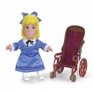 Figura Heidi 18cm CLARA con SEDIA A ROTELLE Originale FAMOSA