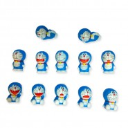 DORAEMON Cat COMPLETE SET 12 Mini FIGURES Real 3D Original ALSO CAKE TOPPERS