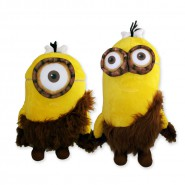 MINIONS MOVIE 2015 Pair 2 Plush 30cm GIFT STUART KEVIN CAVEMAN Minion