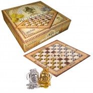 Harry Potter GAME SET Checker BOARD + COINS Gringotts Bank OFFICIAL Noble Collection CHECKERS