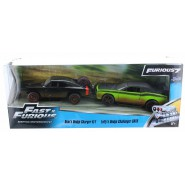 2-PACK 2 Models DOM'S DODGE CHARGER R/T + LETTY's DODGE CHALLENGER Jada Toys FAST and FURIOUS 7